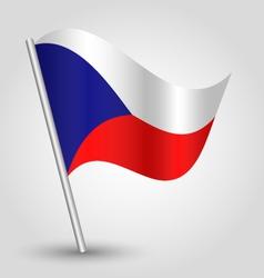 flag czech republic vector image vector image