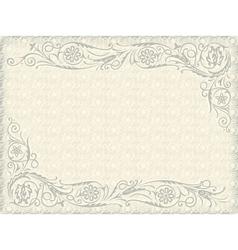 floral wedding background vector image vector image