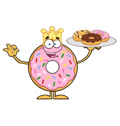 King Donut Cartoon vector image vector image