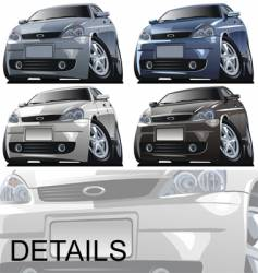 modern cartoon car vector image