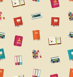 Seamless Pattern of Colorful TextBooks vector image