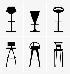 bar chairs vector image vector image