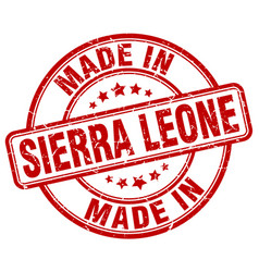 made in sierra leone red grunge round stamp vector image vector image