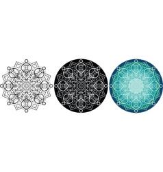 Natural mandala for coloring book round pattern vector