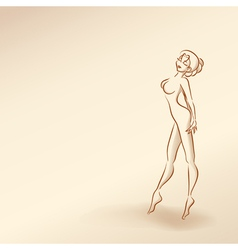Silhouettes of woman in pastel tones3 5nov vector image