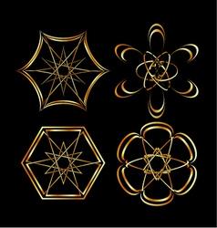 A set of Celtic floral decoration or tattoo art vector image
