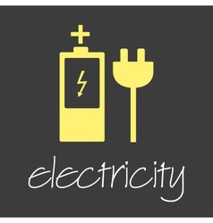 electricity symbol and icon simple banner eps10 vector image vector image