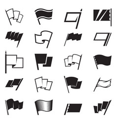 flag icon set vector image vector image