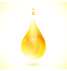 realistic yellow oil drop vector image