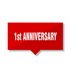 1st anniversary red tag vector