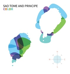Abstract color map of Sao Tome and Principe vector image