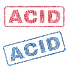 Acid textile stamps vector