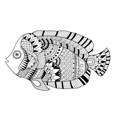 angel fish coloring book vector image