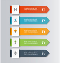 arrows for business infographics vector image