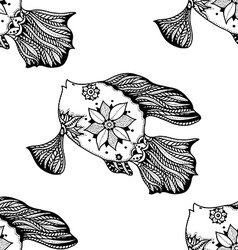 background of abstract fish vector image