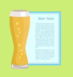 Beer taste poster on green vector