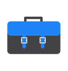 Big black and blue schoolbag briefcase icon vector