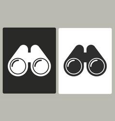 binocular - icon vector image