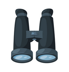 binoculars black optical device spy surveillance vector image