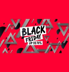 black friday big sales trendy modern poster vector image