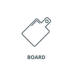 board line icon board outline sign vector image