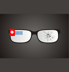 broken smart glasses vector image