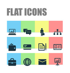Business icons set collection of chatting vector