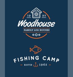 Camping logos templates design elements and vector
