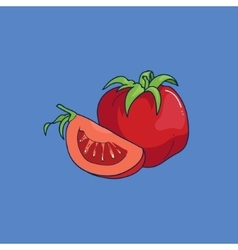 Cartoon style tomato vector