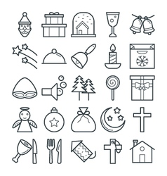 Christmas Cool Icons 3 vector image