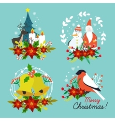 Christmas Hand Drawn Compositions vector
