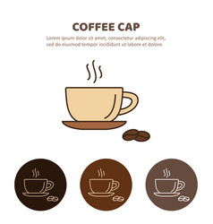 Coffee cup and tea cup liner icon vector
