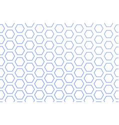 Color abstract hexagon pattern generative art vector