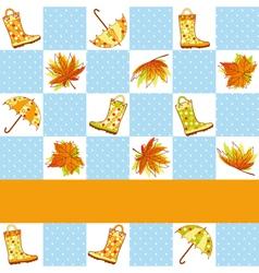 colorful autumn rain seamless vector image