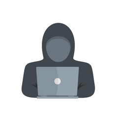computer thief icon flat style vector image