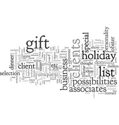 corporate holiday gift ideas start with a vector image