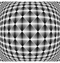 Design warped square trellised pattern vector