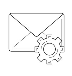 Email settings line icon vector
