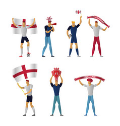 england football fans cheerful soccer vector image