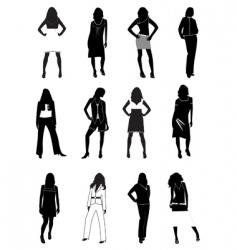 fashion models vector image
