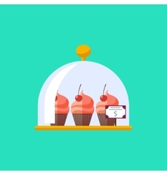 flat dessert food vector image