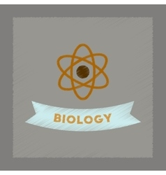 Flat shading style icon biology molecule vector