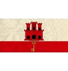 Gibraltar paper flag vector image