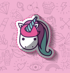 Girly icon over background image vector