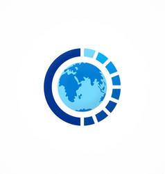 globe round sphere logo vector image