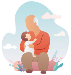 grandfather and baby vector image