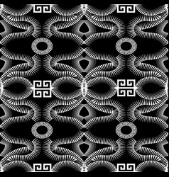 greek black and white creative seamless pattern vector image