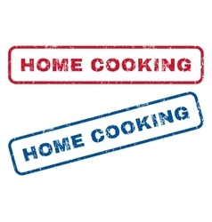 Home cooking rubber stamps vector