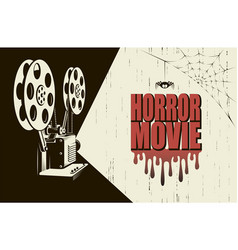 horror movie poster vector image