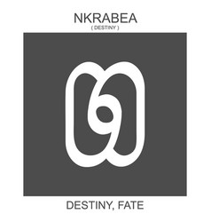 Icon with african adinkra symbol nkrabea vector